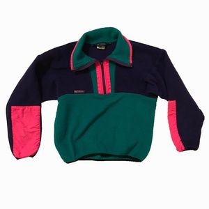 Vintage Columbia Half Zip Sweater
